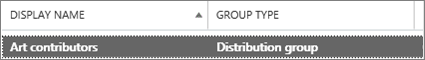 Select a distribution group from the groups page