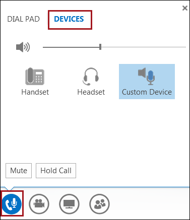Switch your audio device in Lync