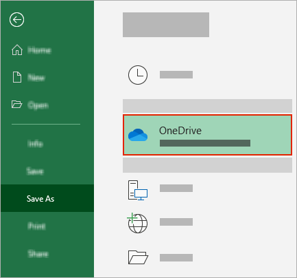 Office Save As dialog showing OneDrive folder