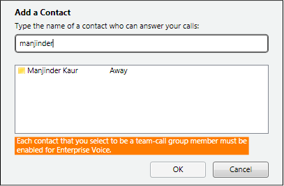 Add team call