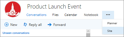 Group nav bar in Outlook