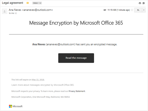 Encrypt Outlook Email >> Learn About Encrypted Messages In Outlook Com Outlook