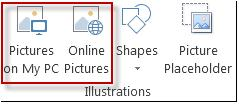 Illustrations group in Publisher 2013