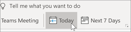 Get to Today in Outlook