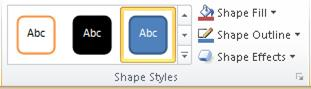 The Shape Styles group on the Format tab.