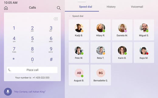 Speed dial screen
