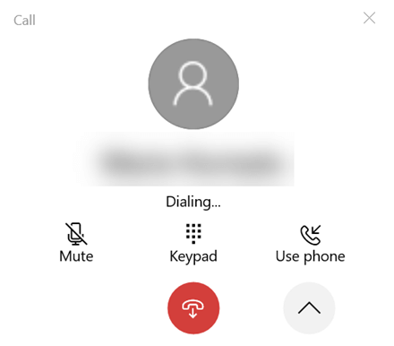 The expanded call window.