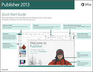 Publisher 2013 Quick Start Guide