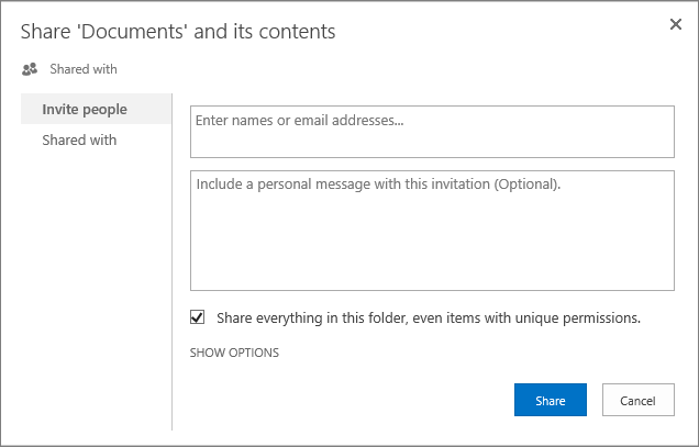 Customize permissions for a SharePoint list or library