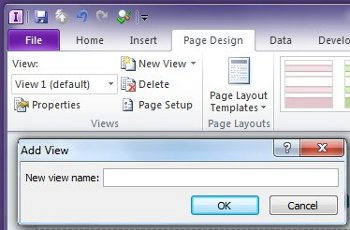 Add, delete, and switch views on a form