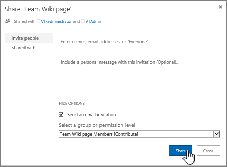 Create and edit a wiki - SharePoint