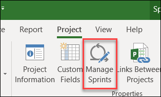 Manage Sprints button