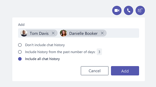 Chat history in Teams