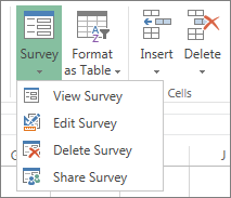 surveys in excel hosted online office support