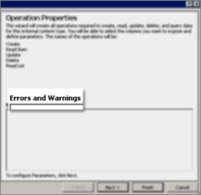 Screenshot of the All Operations dialog box, explaining you've chosen to create all properties needed for Create, Read Item, Update, Delete, and Read List rights.