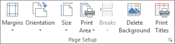 Delete Background in the Page Setup group
