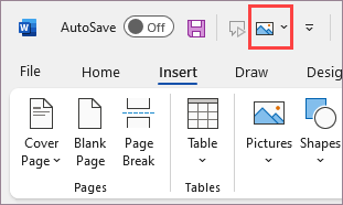 Command added to the Quick Access Toolbar