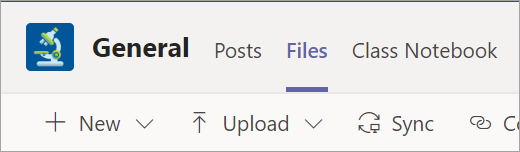 The Files tab