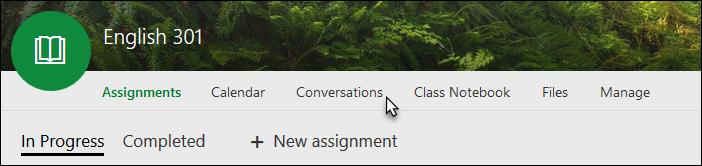 Conversations tab