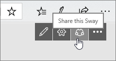 Share this Sway button