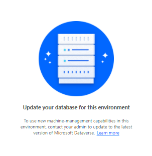 Update your db error message
