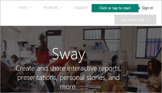Getting Started with Sway - Office Support