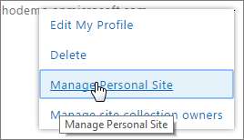 Manage site collections owners