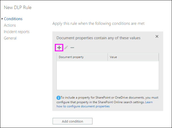 Condition for Document properties contain any of these values