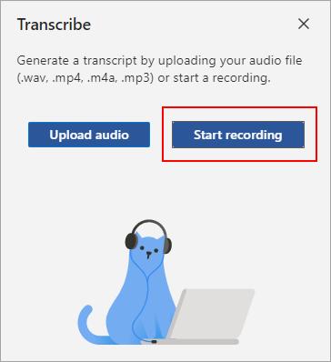 Select Start recording