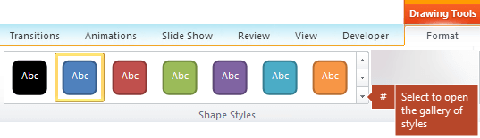 Shape Styles group