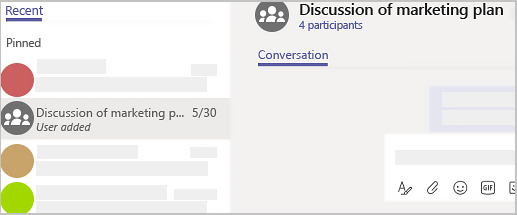 group chat in microsoft teams