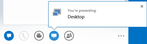 Screen shot of presenting desktop