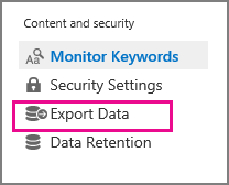 Export Data command