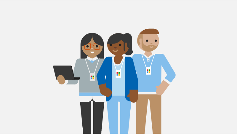 An illustration of support technicians