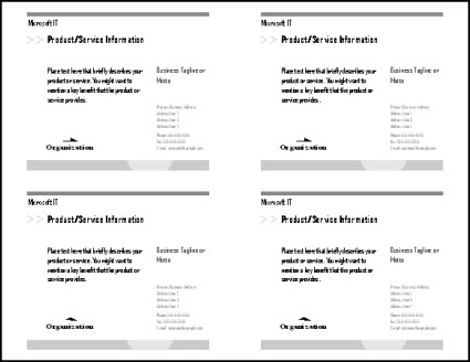 Print multiple postcards on a single sheet in Publisher Publisher – Word Postcard Templates