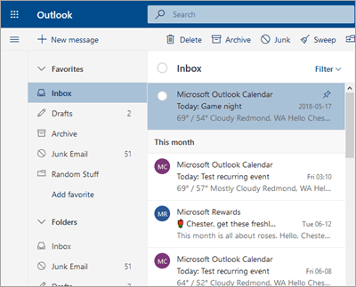 A screenshot of the inbox with Focused Inbox turned off
