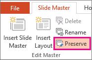 Preserve option on the Slider Master tab