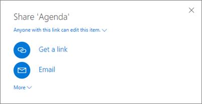 Screenshot of the Share dialog box