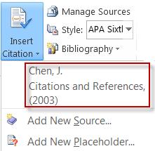 Insert a citation for your reference bibliography.