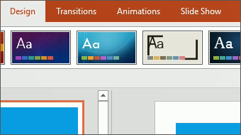 Start Change the look PowerPoint 2016 training