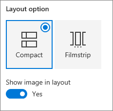 Quick links layout options
