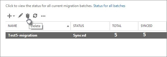 Delete a migration batch