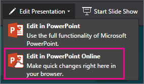 Edit in PowerPoint Online