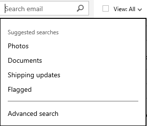 Use the Advanced search option to refine your search results
