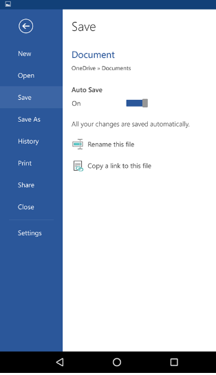 Saving files in Android phones - Office Support