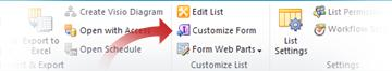 Customize forms using Infopath