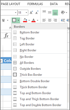 Insert or remove cell borders on a worksheet excel the borders option ccuart Choice Image