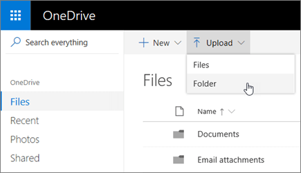 OneDrive Upload Folder