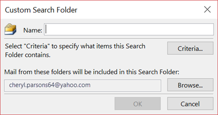 Enter a name for your Search Folder