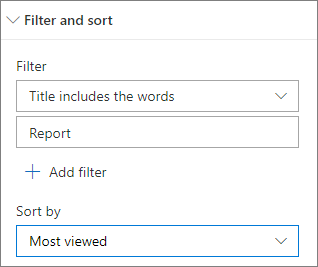 Filter and sort